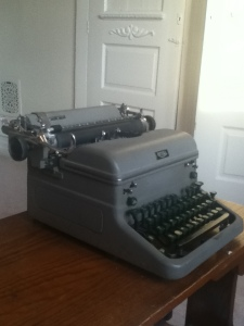 The Royal used to type up the text donated by writers for the project.
