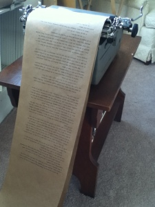 Scroll of text typed up and ready to go.